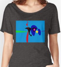 Abstract Expressionism Simple Digital Art Women's Relaxed Fit T-Shirt