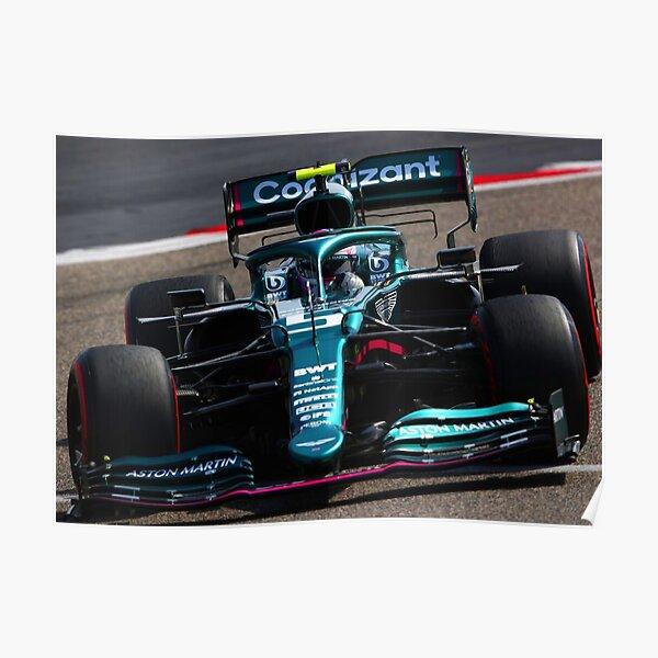 Sebastian Vettel fährt sein 2021 F1 Auto Poster