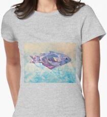 Fish iris fold 516 Womens Fitted T-Shirt