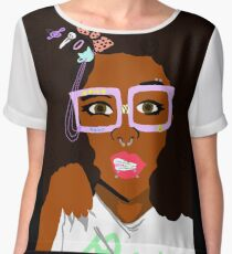 Alternative Black Girl 1 Chiffon Top