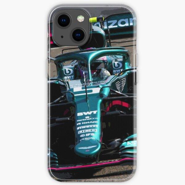 Sebastian Vettel fährt sein 2021 F1 Auto Abstract iPhone Flexible Hülle