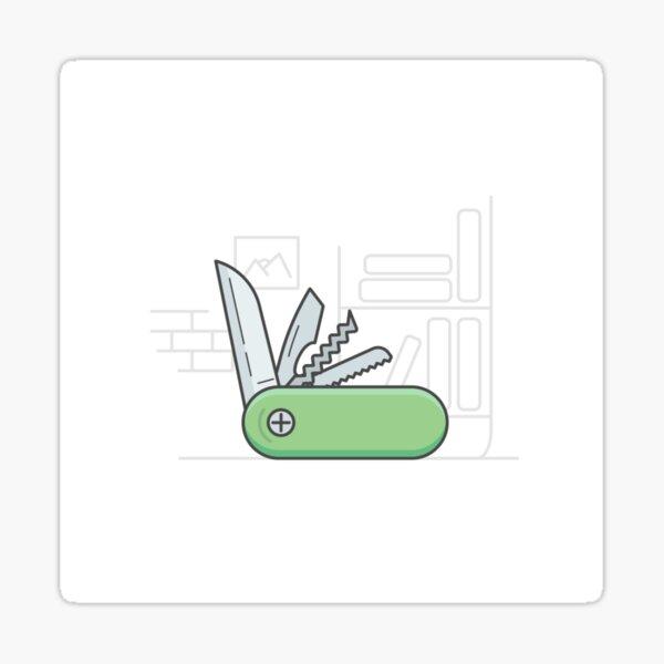 folding knife Sticker