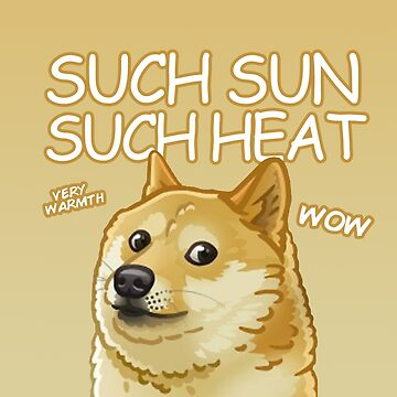 Doge in the sun by SRRgraphics