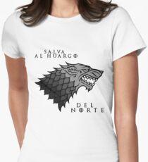 Salva al huargo del Norte Womens Fitted T-Shirt