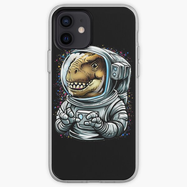 Green Space Dino iPhone Case Astronaut iPhone Case Multiple Case Sizes Available Cosmic iPhone Cover