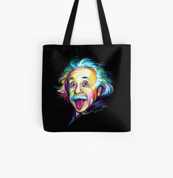 Albert Einstein All Over Print Tote Bag