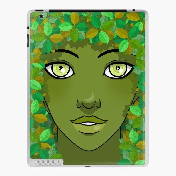 Green Girl iPad Skin