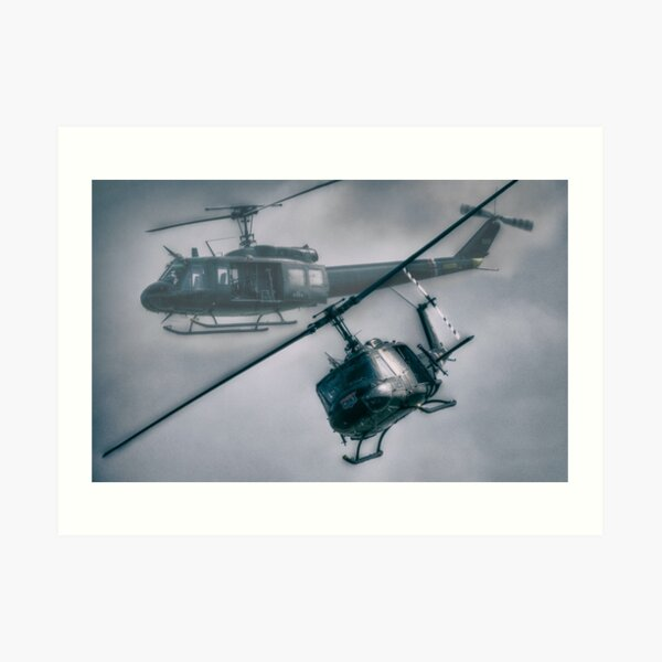 Art print POSTER Canvas Helicopters Landing in Vietnam