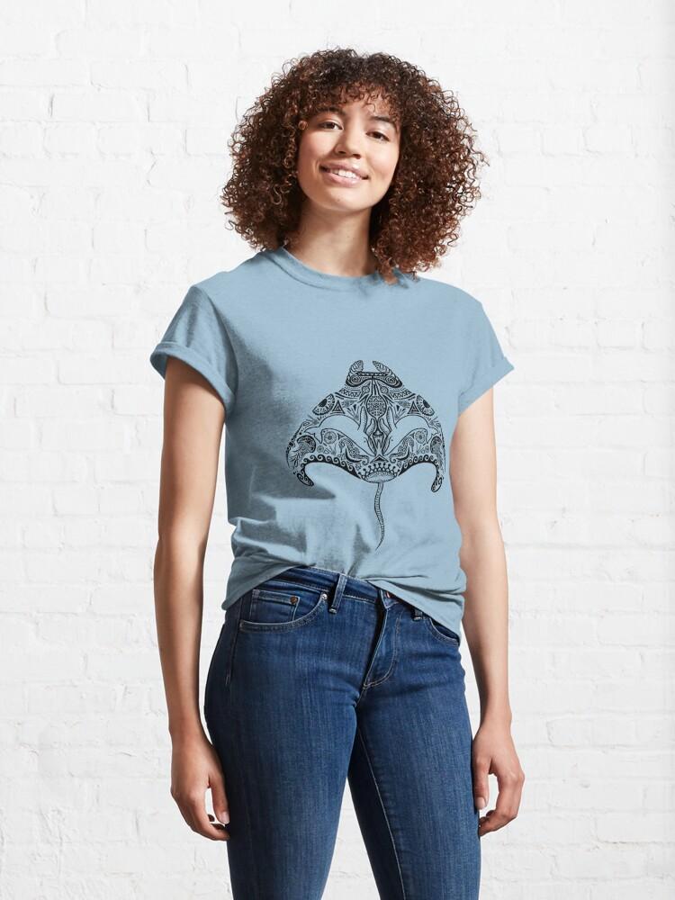 Alternate view of Tribal Manta Ray Classic T-Shirt