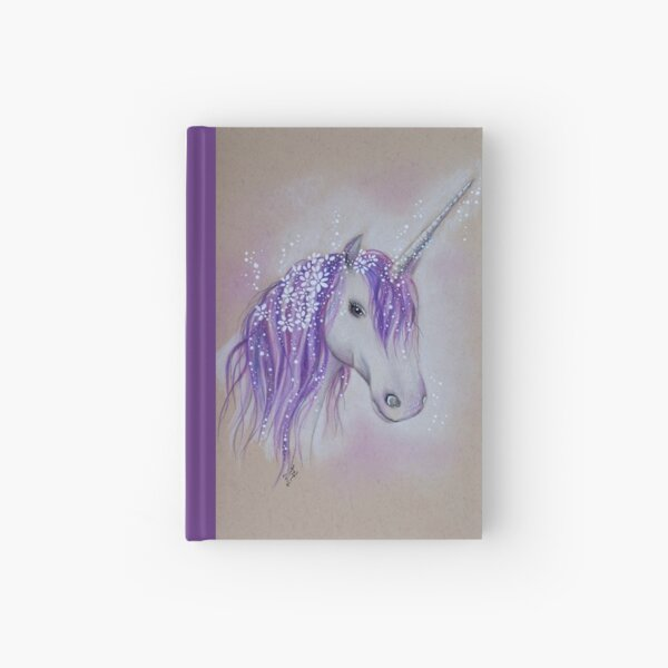 Lilac Dreaming Unicorn Hardcover Journal