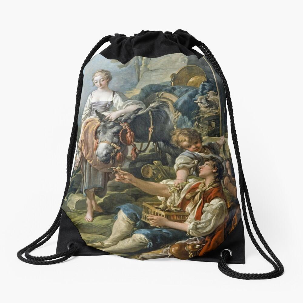 A Village Offering Detail François Boucher Drawstring Bag