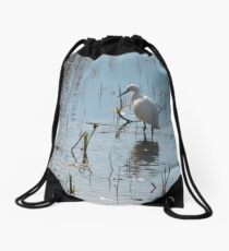 Little Egret: Grace  Drawstring Bag