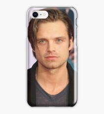 Sebastian Stan w/ Long Slicked-Back Hair iPhone Case/Skin