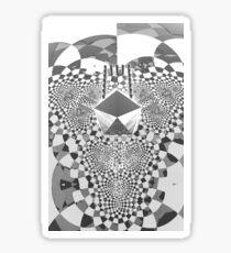 Trifold - Black and white [iphone / ipad case / mug / laptop sleeve / shirt] Sticker