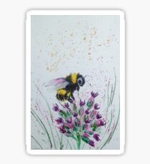 Bumble Bee and Flower Sticker