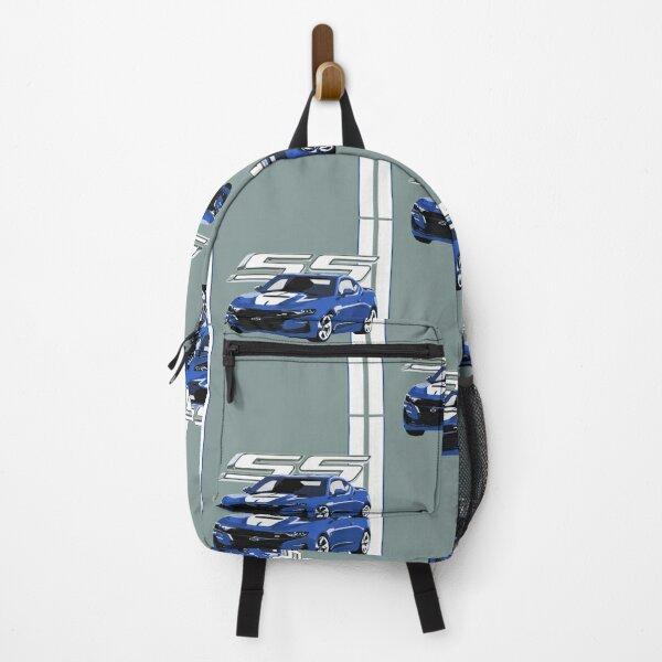 Chevrolet Corvette camaro chevy ss super street blue Backpack