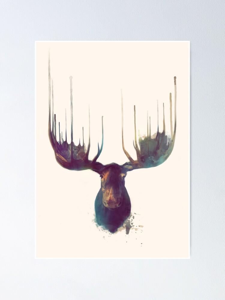 Alternate view of Moose Poster