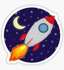 cartoon rocket ship stickers redbubble rh redbubble com cartoon rocket ship taking off cartoon rocket ship png