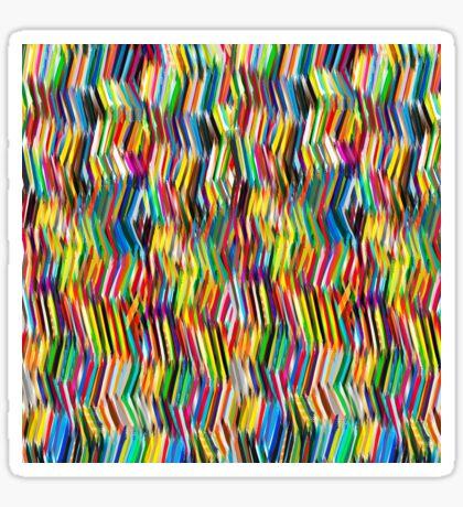 (s)tripy chevron Sticker