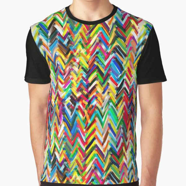 T-Shirts 3dRose Alexis Design Abstract Pattern of Blue Pattern Geometrical White Triangles on Light Blue Surface