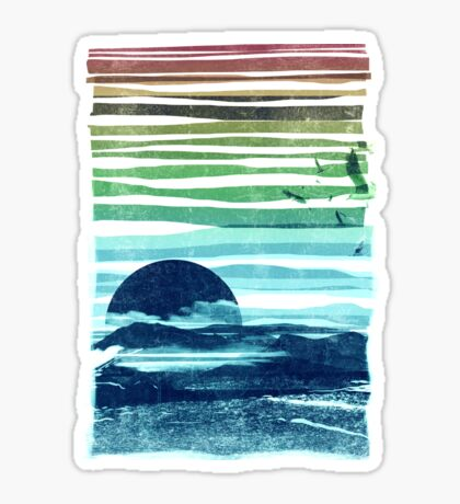 sea landscape Sticker