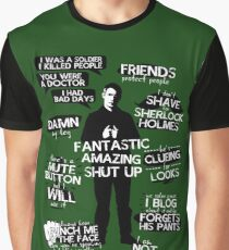 John Watson Quotes Graphic T-Shirt