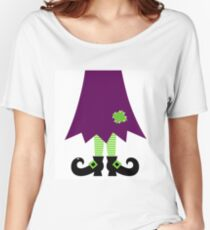 Vector - Stylized retro Witch legs Women's Relaxed Fit T-Shirt