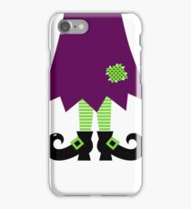 Vector - Stylized retro Witch legs iPhone Case/Skin