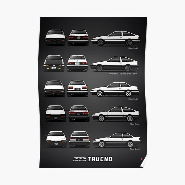 AE86 - Toyota Sprinter Trueno Poster