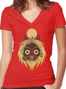 nature rising Women's Fitted V-Neck T-Shirt