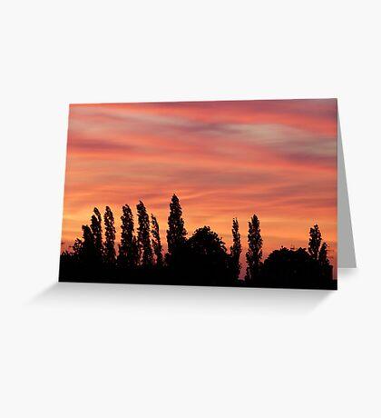 Golden sky Greeting Card