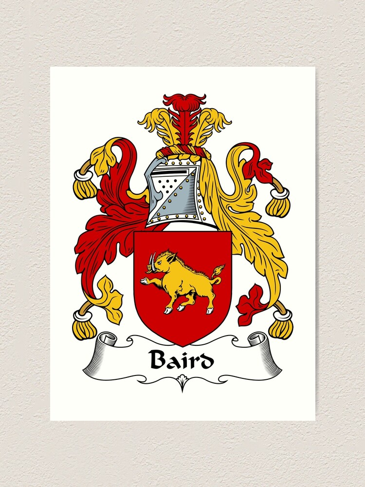 Clan Baird Scottish Family Shield  Decal