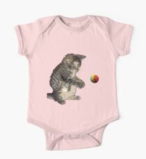 kitty cat playing ball One Piece - Short Sleeve