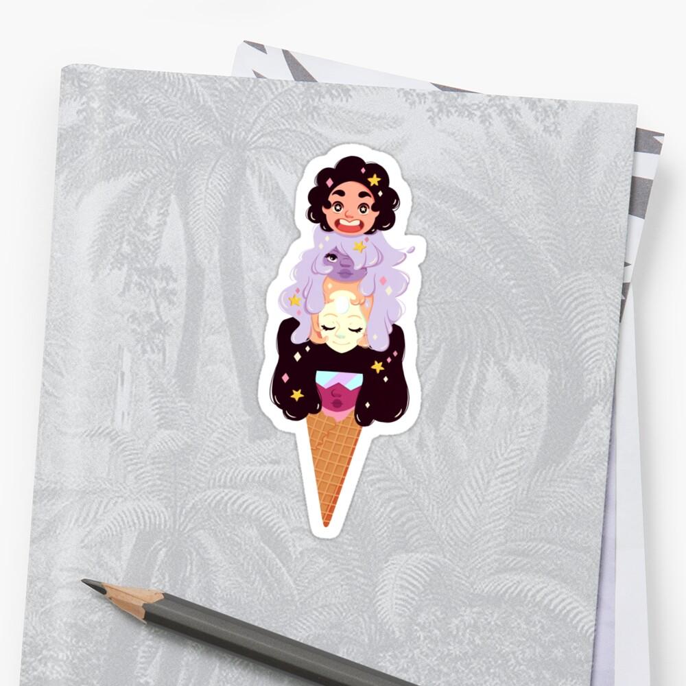 Crystal Gems Eiscreme Spezial Sticker