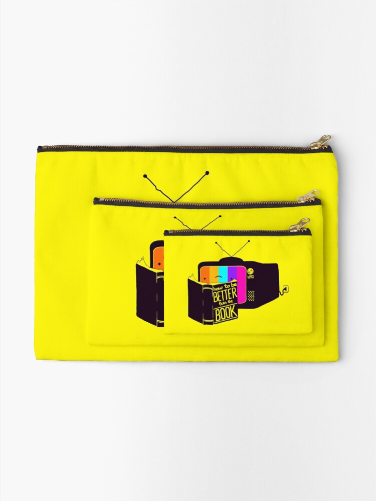 Alternate view of The Book Was Better Zipper Pouch