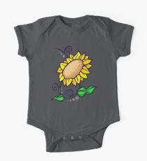 Sonnenblume Baby Body Kurzarm