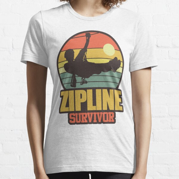 Zipline Survivor | Thrill Ride Adventure Sport Essential T-Shirt