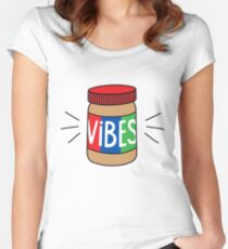 Peanut Butter Vibes Women's Fitted Scoop T-Shirt