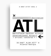 ATL Atlanta International Airport Call Letters Metal Print