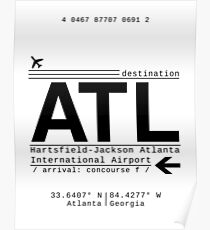 ATL Atlanta International Airport Call Letters Poster