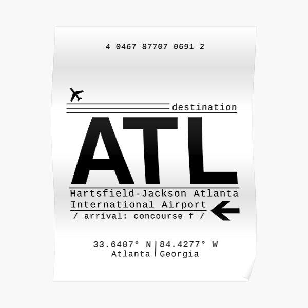 ATL Atlanta International Airport Call Letters Poster