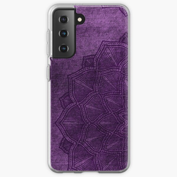 Mandala colorful purple print abstract art texture design. iPhone or Samsung phone Case & Cover Samsung Galaxy Soft Case