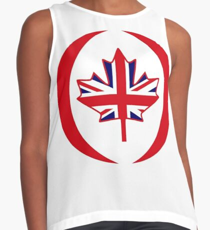 British Canadian Multinational Patriot Flag Series Sleeveless Top