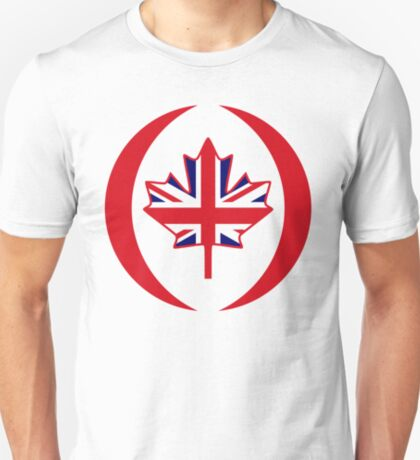 British Canadian Multinational Patriot Flag Series T-Shirt