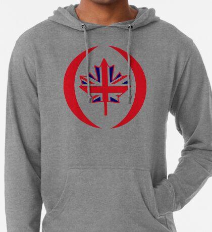 British Canadian Multinational Patriot Flag Series Lightweight Hoodie