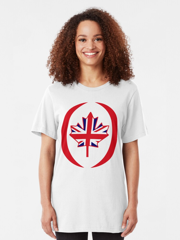 Alternate view of British Canadian Multinational Patriot Flag Series Slim Fit T-Shirt