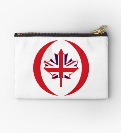 British Canadian Multinational Patriot Flag Series Zipper Pouch