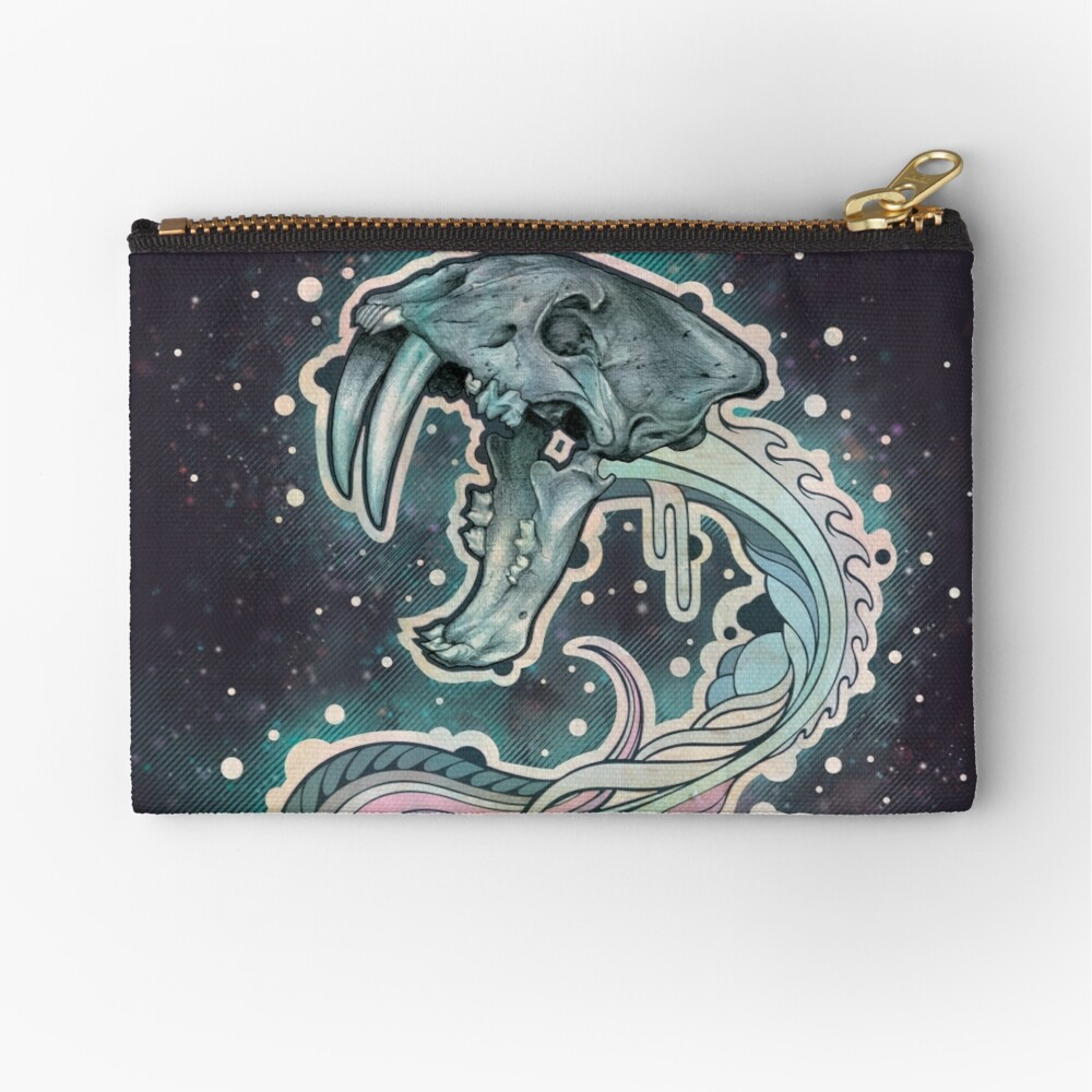 Saber-toothed Serpent in Space Zipper Pouch