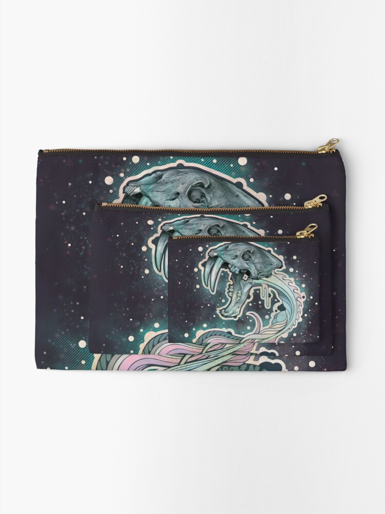 Alternate view of Saber-toothed Serpent in Space Zipper Pouch