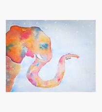 Watercolor Elephant Photographic Print